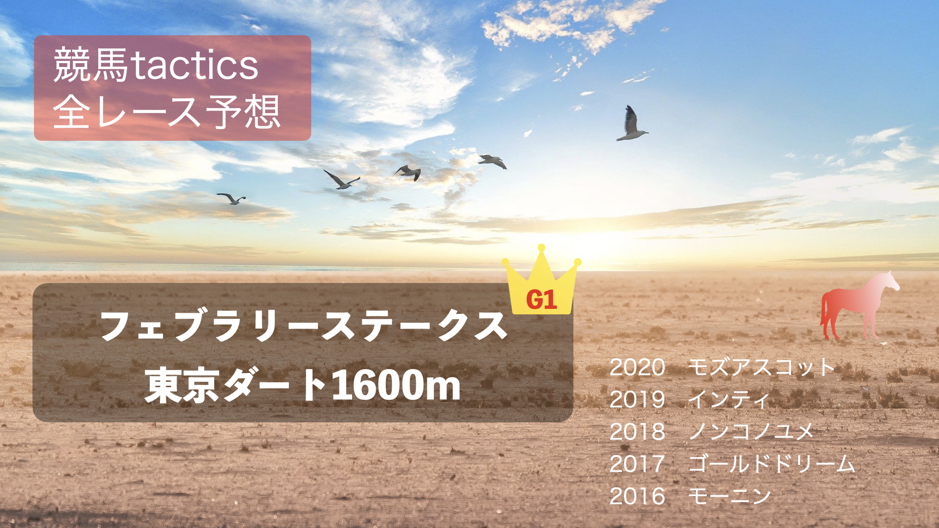 2021.2.21(日)第38回フェブラリーS(G1)東京競馬場 ダ1600m 左回り