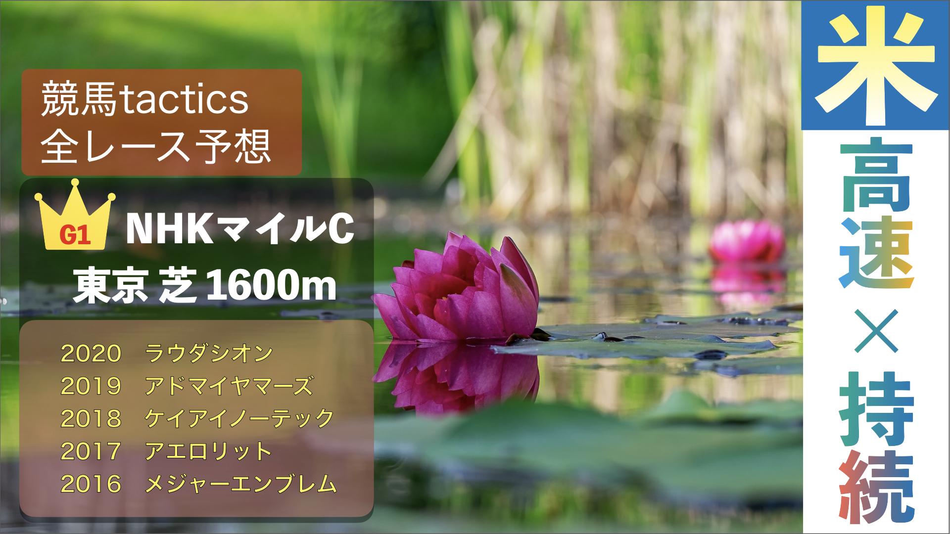 2021.5.9(日)第26回NHKマイルカップ(G1)東京競馬場 芝1600m 左回り